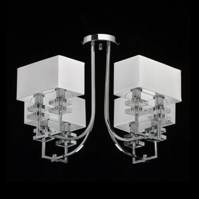 Mw light Прато 101010708 ЛюстраПотолочные<br><br><br>Установка на натяжной потолок: Да<br>S освещ. до, м2: 16<br>Тип лампы: Накаливания / энергосбережения / светодиодная<br>Тип цоколя: E14<br>Цвет арматуры: Серебристый хром<br>Количество ламп: 8<br>Диаметр, мм мм: 700<br>Высота, мм: 460<br>Оттенок (цвет): белый<br>MAX мощность ламп, Вт: 40