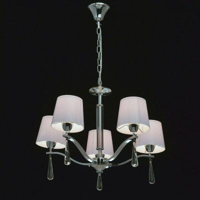 Mw light 101011105 СветильникПодвесные<br><br><br>Установка на натяжной потолок: Да<br>S освещ. до, м2: 10<br>Тип лампы: Накаливания / энергосбережения / светодиодная<br>Тип цоколя: E14<br>Количество ламп: 5<br>MAX мощность ламп, Вт: 40<br>Диаметр, мм мм: 560<br>Высота, мм: 560 - 850<br>Цвет арматуры: серебристый