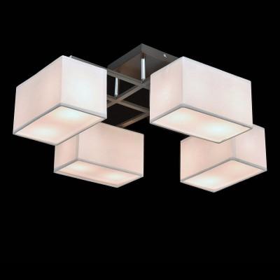 Mw light 101011308 СветильникПотолочные<br><br><br>Установка на натяжной потолок: Да<br>S освещ. до, м2: 16<br>Тип лампы: Накаливания / энергосбережения / светодиодная<br>Тип цоколя: E14<br>Количество ламп: 8<br>Ширина, мм: 570<br>MAX мощность ламп, Вт: 40<br>Длина, мм: 670<br>Высота, мм: 280<br>Цвет арматуры: серебристый