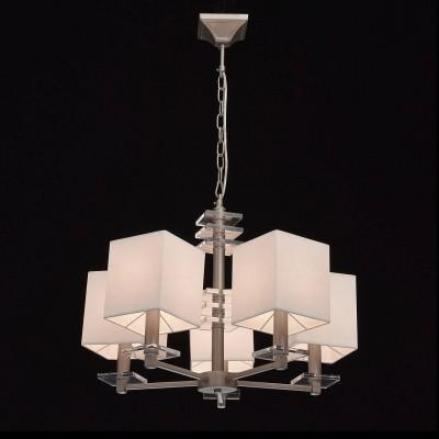 Mw light 101011505 СветильникПодвесные<br><br><br>Установка на натяжной потолок: Да<br>S освещ. до, м2: 10<br>Тип лампы: Накаливания / энергосбережения / светодиодная<br>Тип цоколя: E14<br>Цвет арматуры: серебристый<br>Количество ламп: 5<br>Диаметр, мм мм: 600<br>Высота, мм: 560 - 850<br>MAX мощность ламп, Вт: 40