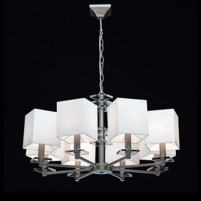 Mw light 101011608 СветильникПодвесные<br><br><br>Установка на натяжной потолок: Да<br>S освещ. до, м2: 16<br>Тип лампы: Накаливания / энергосбережения / светодиодная<br>Тип цоколя: E14<br>Цвет арматуры: серебристый<br>Количество ламп: 8<br>Диаметр, мм мм: 800<br>Высота, мм: 530 - 820<br>MAX мощность ламп, Вт: 40