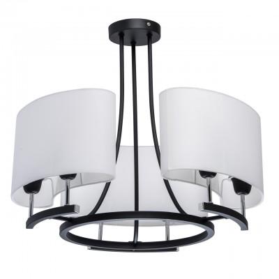 101012106 Mw light СветильникПотолочные<br><br><br>Установка на натяжной потолок: Да<br>S освещ. до, м2: 18<br>Тип лампы: Накаливания / энергосбережения / светодиодная<br>Тип цоколя: E27<br>Цвет арматуры: Серебристый хром / черный<br>Количество ламп: 6<br>Диаметр, мм мм: 540<br>Высота, мм: 470<br>Оттенок (цвет): белый<br>MAX мощность ламп, Вт: 60