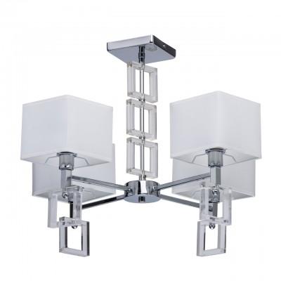 101012405 Mw light СветильникПотолочные<br><br><br>Установка на натяжной потолок: Да<br>S освещ. до, м2: 8<br>Тип лампы: Накаливания / энергосбережения / светодиодная<br>Тип цоколя: E14<br>Цвет арматуры: Серебристый хром<br>Количество ламп: 4<br>Диаметр, мм мм: 700<br>Высота, мм: 450<br>Оттенок (цвет): белый<br>MAX мощность ламп, Вт: 40