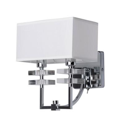 Mw light Прато 101020202 Светильник браСовременные<br><br><br>Тип лампы: Накаливания / энергосбережения / светодиодная<br>Тип цоколя: E14<br>Цвет арматуры: Серебристый хром<br>Количество ламп: 2<br>Ширина, мм: 230<br>Расстояние от стены, мм: 270<br>Высота, мм: 240<br>Оттенок (цвет): белый<br>MAX мощность ламп, Вт: 40