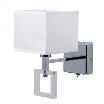 101022201 Mw light СветильникХай-тек<br><br><br>Тип лампы: Накаливания / энергосбережения / светодиодная<br>Тип цоколя: E14<br>Цвет арматуры: Серебристый хром<br>Количество ламп: 1<br>Ширина, мм: 140<br>Длина, мм: 260<br>Высота, мм: 220<br>Оттенок (цвет): белый<br>MAX мощность ламп, Вт: 40