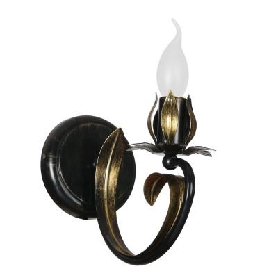 Аврора Букет 10103-1B Светильник настенный браФлористика<br>Важными и отличительными особенностями модели светильника Аврора 10103-1B является металл коричневого цвета с золотой патиной с габаритными размерами 120*195*240мм. Хотелось бы отметить российскую сборку в г. Самара с отечественными комплектующими.<br><br>Тип товара: Светильник настенный бра<br>Тип цоколя: E14<br>Количество ламп: 1<br>Ширина, мм: 120<br>MAX мощность ламп, Вт: 60<br>Размеры: 120*195*240<br>Расстояние от стены, мм: 240<br>Высота, мм: 195