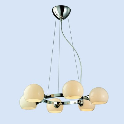 Люстра Favourite 1014-6P MoleculaПодвесные<br><br><br>Установка на натяжной потолок: Да<br>S освещ. до, м2: 16<br>Крепление: Планка<br>Тип товара: Люстра<br>Тип лампы: накаливания / энергосбережения / LED-светодиодная<br>Тип цоколя: E14<br>Количество ламп: 6<br>MAX мощность ламп, Вт: 40<br>Диаметр, мм мм: 650<br>Размеры: D650*H1200max<br>Высота, мм: 1200<br>Оттенок (цвет): серебристый<br>Цвет арматуры: серебристый