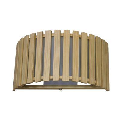 Светильник бра Colosseo 10140/1Современные<br><br><br>S освещ. до, м2: 4<br>Крепление: планка<br>Тип лампы: накаливания / энергосбережения / LED-светодиодная<br>Тип цоколя: E27<br>Количество ламп: 1<br>Ширина, мм: 350<br>MAX мощность ламп, Вт: 60<br>Расстояние от стены, мм: 140<br>Высота, мм: 180<br>Оттенок (цвет): светлое дерево<br>Цвет арматуры: бежевый