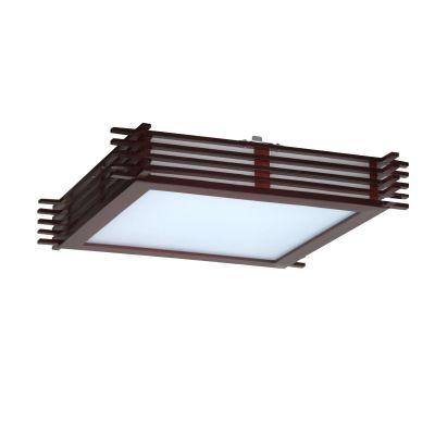 Светильник Colosseo 10146/4Квадратные<br><br><br>S освещ. до, м2: 16<br>Крепление: планка<br>Тип товара: Светильник настенно-потолочный<br>Скидка, %: 16<br>Тип лампы: накаливания / энергосбережения / LED-светодиодная<br>Тип цоколя: E27<br>Количество ламп: 4<br>Ширина, мм: 400<br>MAX мощность ламп, Вт: 60<br>Длина, мм: 400<br>Расстояние от стены, мм: 100<br>Высота, мм: 100<br>Оттенок (цвет): под дерево<br>Цвет арматуры: деревянный