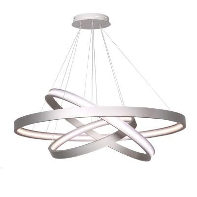 Аврора Орбита 10149-18P ЛюстраПодвесные<br><br><br>Крепление: планка<br>Тип товара: Люстра<br>Цветовая t, К: 4000<br>Тип лампы: LED<br>Тип цоколя: LED<br>MAX мощность ламп, Вт: 92<br>Диаметр, мм мм: 700<br>Высота, мм: 300 - 1500<br>Оттенок (цвет): металл алюминиевого цвета, акриловое покрытие LED белое матовое