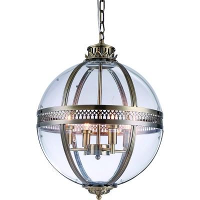 Светильник Divinare 1015/15 SP-4Подвесные<br><br><br>S освещ. до, м2: 8<br>Крепление: крюк<br>Тип товара: Светильник подвесной<br>Тип цоколя: E14<br>Количество ламп: 4<br>Ширина, мм: 430<br>MAX мощность ламп, Вт: 40<br>Диаметр, мм мм: 430<br>Размеры основания, мм: 130<br>Длина цепи/провода, мм: 600<br>Высота, мм: 630<br>Цвет арматуры: античная латунь