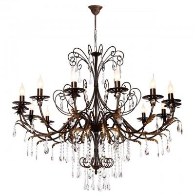 Аврора Варшава 10170-15L ЛюстраПодвесные<br>Коллекция Варшава - это роскошная люстра с диаметром более 1,2 м. на 12 ламп, усыпанная хрустальными подвесками высшего качества разной длинны. Люстра дополнена настенным светильником. Эта коллекция прекрасно подойдет для оформления классических интерьеров, особенно гостиных или холлов загородных домов, а так же в ресторанов и кафе. Рекомендуем дополнять светильники лампами в форме «свеча на ветру»<br><br>Установка на натяжной потолок: Да<br>S освещ. до, м2: 30<br>Крепление: крюк<br>Тип лампы: Накаливания / энергосбережения / светодиодная<br>Тип цоколя: E14<br>Количество ламп: 15<br>Диаметр, мм мм: 1200<br>Высота, мм: 1100 - 2600<br>Оттенок (цвет): каркас черный золотой, хрусталь высшего качества<br>MAX мощность ламп, Вт: 40
