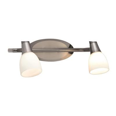 Светильник Markslojd 101844Двойные<br><br><br>Тип лампы: Накаливания / энергосбережения / светодиодная<br>Тип цоколя: E14<br>Количество ламп: 2<br>Ширина, мм: 320<br>MAX мощность ламп, Вт: 40<br>Расстояние от стены, мм: 170<br>Высота, мм: 120