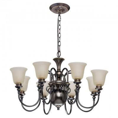 Светильник Mw-light 102010608Подвесные<br><br><br>Тип лампы: Накаливания / энергосбережения / светодиодная<br>Тип цоколя: E27<br>Цвет арматуры: бронзовый/черный<br>Количество ламп: 8<br>Диаметр, мм мм: 900<br>Высота, мм: 1350<br>MAX мощность ламп, Вт: 40