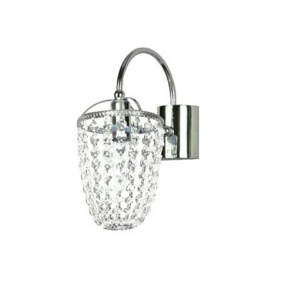 Светильник бра Favourite 1025-1W CaramelХрустальные<br><br><br>S освещ. до, м2: 2<br>Тип лампы: накаливания / энергосбережения / LED-светодиодная<br>Тип цоколя: E14<br>Количество ламп: 1<br>Ширина, мм: 120<br>MAX мощность ламп, Вт: 40<br>Диаметр, мм мм: 220<br>Размеры: W120*H280*D220<br>Расстояние от стены, мм: 220<br>Высота, мм: 280<br>Оттенок (цвет): серебристый<br>Цвет арматуры: серебристый