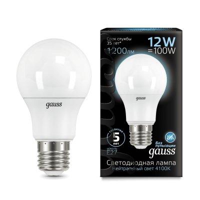 Лампа Gauss LED A60 12W E27 1200lm 4100K (102502212) 102502212_GAUSS