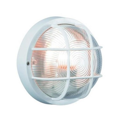 Светильник Markslojd 102584Настенные<br><br><br>Тип лампы: Накаливания / энергосбережения / светодиодная<br>Тип цоколя: E27<br>Количество ламп: 1<br>MAX мощность ламп, Вт: 60<br>Диаметр, мм мм: 185<br>Расстояние от стены, мм: 100<br>Цвет арматуры: белый