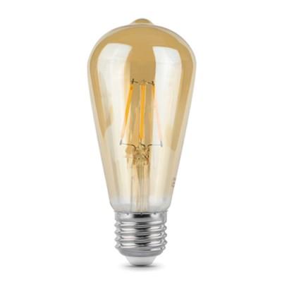 Лампа Gauss LED Filament ST64 E27 6W Golden 2400К/40Стандартный вид<br>В интернет-магазине «Светодом» можно купить не только люстры и светильники, но и лампочки. В нашем каталоге представлены светодиодные, галогенные, энергосберегающие модели и лампы накаливания. В ассортименте имеются изделия разной мощности, поэтому у нас Вы сможете приобрести все необходимое для освещения.   Лампа Gauss 102802006 обеспечит отличное качество освещения. При покупке ознакомьтесь с параметрами в разделе «Характеристики», чтобы не ошибиться в выборе. Там же указано, для каких осветительных приборов Вы можете использовать лампу Gauss 102802006Gauss 102802006.   Для оформления покупки воспользуйтесь «Корзиной». При наличии вопросов Вы можете позвонить нашим менеджерам по одному из контактных номеров. Мы доставляем заказы в Москву, Екатеринбург и другие города России.<br><br>Цветовая t, К: 2400<br>Тип лампы: LED<br>Тип цоколя: E27<br>MAX мощность ламп, Вт: 6