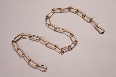 Цепь длиной 1 метр + 2 карабина золото 10301Цепи для люстр<br><br><br>Размеры: Звено