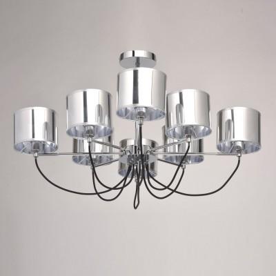 Mw light Лацио 103010908 ЛюстраПотолочные<br><br><br>Установка на натяжной потолок: Да<br>S освещ. до, м2: 16<br>Тип лампы: Накаливания / энергосбережения / светодиодная<br>Тип цоколя: E14<br>Количество ламп: 8<br>MAX мощность ламп, Вт: 40<br>Диаметр, мм мм: 820<br>Высота, мм: 500