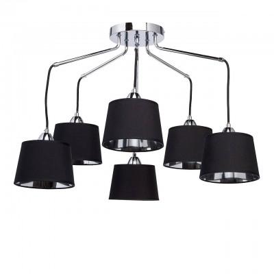 Mw light 103011206 СветильникПотолочные<br><br><br>S освещ. до, м2: 12<br>Тип лампы: Накаливания / энергосбережения / светодиодная<br>Тип цоколя: E27<br>Количество ламп: 6<br>MAX мощность ламп, Вт: 40<br>Диаметр, мм мм: 700<br>Высота, мм: 500