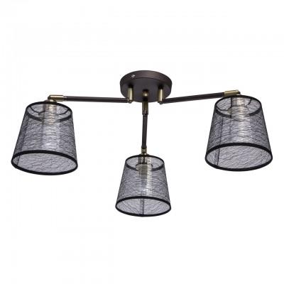 Светильник De Markt 103011603потолочные люстры лофт<br><br><br>S освещ. до, м2: 6<br>Тип лампы: накаливания / энергосбережения / LED-светодиодная<br>Тип цоколя: E14<br>Цвет арматуры: коричневый<br>Количество ламп: 3<br>Диаметр, мм мм: 720<br>Высота, мм: 400<br>MAX мощность ламп, Вт: 40