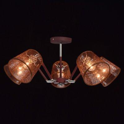 Светильник De Markt 103011805Ожидается<br><br><br>Цвет арматуры: коричневый<br>Диаметр, мм мм: 670<br>Высота, мм: 410<br>Оттенок (цвет): коричневый