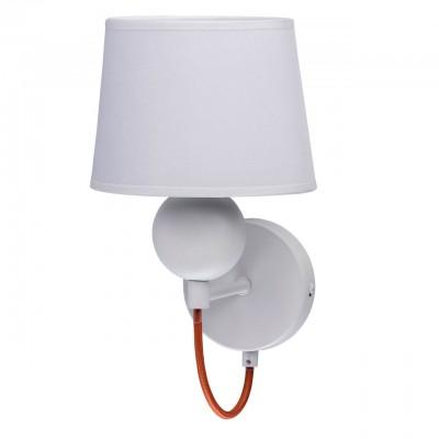 Mw light Лацио 103021401 Светильник браХай-тек<br><br><br>Тип лампы: Накаливания / энергосбережения / светодиодная<br>Тип цоколя: E14<br>Цвет арматуры: Серебристый хром<br>Количество ламп: 1<br>Ширина, мм: 150<br>Расстояние от стены, мм: 230<br>Высота, мм: 190<br>Оттенок (цвет): белый / красный<br>MAX мощность ламп, Вт: 40