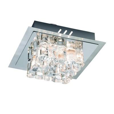 Светильник Markslojd 103094Потолочные<br><br><br>Тип лампы: Накаливания / энергосбережения / светодиодная<br>Тип цоколя: G4<br>Количество ламп: 4<br>Ширина, мм: 200<br>MAX мощность ламп, Вт: 20<br>Высота, мм: 80<br>Цвет арматуры: серебристый