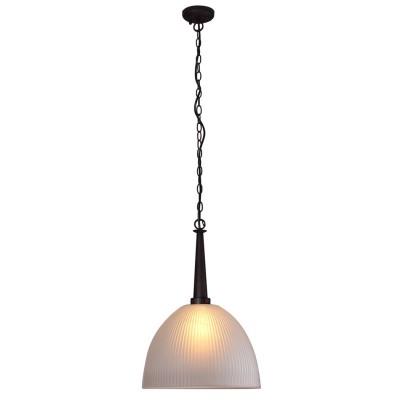 Светильник Lamplandia 1035 Single wengeОдиночные<br>Классический подвес выполнен из металлического основания темно-коричневого цвета. Плафон белого матового стекла. Замечательно вписывается в интерьер<br><br>Крепление: потолочный<br>Тип лампы: накаливания / энергосбережения / LED-светодиодная<br>Тип цоколя: E27<br>Количество ламп: 1<br>MAX мощность ламп, Вт: 60<br>Диаметр, мм мм: 340<br>Высота, мм: 640 - 950<br>Цвет арматуры: коричневый