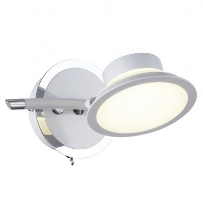 Спот настенный Simonta  104/1A-LEDWhiteОжидается<br><br><br>Крепление: Крепежная планка<br>Тип цоколя: LED<br>Цвет арматуры: Белый+хром<br>Количество ламп: 1<br>Ширина, мм: 170<br>Длина, мм: 210<br>Высота, мм: 105<br>Оттенок (цвет): Белый<br>MAX мощность ламп, Вт: 7