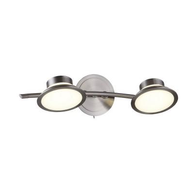 Спот настенный Simonta 104/2A-LEDWhitechromeОжидается<br><br><br>Крепление: Крепежная планка<br>Тип цоколя: LED<br>Цвет арматуры: Никель сатин<br>Количество ламп: 2<br>Ширина, мм: 170<br>Длина, мм: 410<br>Высота, мм: 105<br>Оттенок (цвет): Белый<br>MAX мощность ламп, Вт: 7