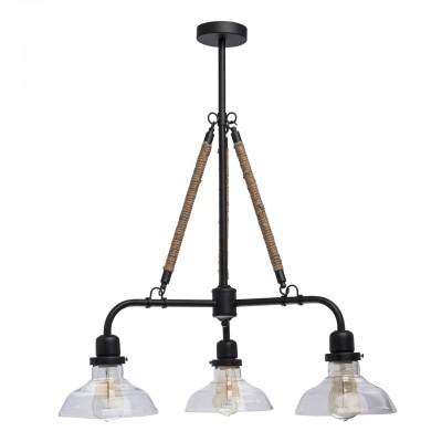 Светильник De Markt 104010403потолочные люстры лофт<br><br><br>S освещ. до, м2: 9<br>Тип лампы: накаливания / энергосбережения / LED-светодиодная<br>Тип цоколя: E27<br>Цвет арматуры: черный<br>Количество ламп: 3<br>Ширина, мм: 720<br>Длина, мм: 720<br>Высота, мм: 960<br>MAX мощность ламп, Вт: 60