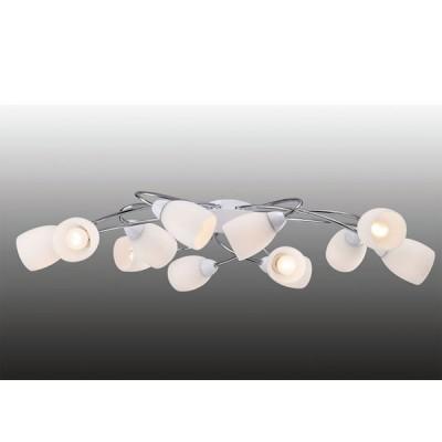 Люстра на 12 ламп Favourite 1042-12U BlancaПотолочные<br>Компания «Светодом» предлагает широкий ассортимент люстр от известных производителей. Представленные в нашем каталоге товары выполнены из современных материалов и обладают отличным качеством. Благодаря широкому ассортименту Вы сможете найти у нас люстру под любой интерьер. Мы предлагаем как классические варианты, так и современные модели, отличающиеся лаконичностью и простотой форм.  Стильная люстра Favourite 1042-12U станет украшением любого дома. Эта модель от известного производителя не оставит равнодушным ценителей красивых и оригинальных предметов интерьера. Люстра Favourite 1042-12U обеспечит равномерное распределение света по всей комнате. При выборе обратите внимание на характеристики, позволяющие приобрести наиболее подходящую модель. Купить понравившуюся люстру по доступной цене Вы можете в интернет-магазине «Светодом».<br><br>Установка на натяжной потолок: Да<br>S освещ. до, м2: 32<br>Крепление: пружина<br>Тип лампы: накаливания / энергосбережения / LED-светодиодная<br>Тип цоколя: E14<br>Количество ламп: 12<br>Ширина, мм: 495<br>MAX мощность ламп, Вт: 40<br>Размеры: L945*W495*H250<br>Длина, мм: 945<br>Высота, мм: 250<br>Оттенок (цвет): серебристый<br>Цвет арматуры: серый