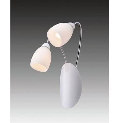 Светильник бра Favourite 1042-2W BlancaСовременные<br><br><br>S освещ. до, м2: 5<br>Тип лампы: накаливания / энергосбережения / LED-светодиодная<br>Тип цоколя: E14<br>Количество ламп: 2<br>Ширина, мм: 300<br>MAX мощность ламп, Вт: 40<br>Диаметр, мм мм: 170<br>Размеры: W300*H350*D170<br>Высота, мм: 350<br>Оттенок (цвет): белый<br>Цвет арматуры: серый