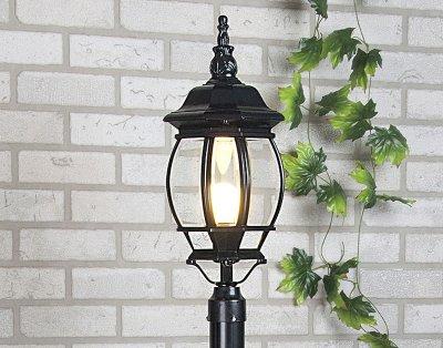1043 черный Электростандарт Светильник на столбеФонари на столб<br>Мощность: 100 Вт Цоколь: Е27 Питание: 220-240 В / 50 Гц Защита: IP 33 Цвет: черный, черное золото Размер: 200 х 200 х 528 мм Столб не входит в комплект Упаковка: 6 шт.<br><br>Тип лампы: накаливания / энергосбережения / LED-светодиодная<br>Тип цоколя: Е27<br>Цвет арматуры: черный<br>Количество ламп: 1<br>Ширина, мм: 200<br>Длина, мм: 200<br>Высота, мм: 528<br>Оттенок (цвет): серый<br>MAX мощность ламп, Вт: 100