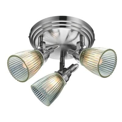 Светильник MarkSlojd  LampGustaf 104865Поворотные<br>Компания «Светодом» предлагает широкий ассортимент люстр от известных производителей. Представленные в нашем каталоге товары выполнены из современных материалов и обладают отличным качеством. Благодаря широкому ассортименту Вы сможете найти у нас люстру под любой интерьер. Мы предлагаем как классические варианты, так и современные модели, отличающиеся лаконичностью и простотой форм.  Стильная люстра MarkSlojd 104865 станет украшением любого дома. Эта модель от известного производителя не оставит равнодушным ценителей красивых и оригинальных предметов интерьера. Люстра MarkSlojd 104865 обеспечит равномерное распределение света по всей комнате. При выборе обратите внимание на характеристики, позволяющие приобрести наиболее подходящую модель. Купить понравившуюся люстру по доступной цене Вы можете в интернет-магазине «Светодом». Мы предлагаем доставку не только по Москве и Екатеринбурге, но и по всей России.<br><br>Установка на натяжной потолок: Да<br>S освещ. до, м2: 6<br>Крепление: Планка<br>Тип цоколя: E14<br>Количество ламп: 3<br>MAX мощность ламп, Вт: 40<br>Диаметр, мм мм: 370<br>Высота, мм: 210<br>Цвет арматуры: серебристый