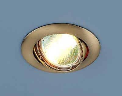 104S SB (бронза) Электростандарт Точечный светильникТочечные светильники круглые<br>Лампа: MR16 G5.3 max 50 Вт Диаметр: #216; 79 мм Высота внутренней части: ? 20 мм Высота внешней части: ? 4 мм Монтажное отверстие: #216; 76 мм Гарантия: 2 года Светильник имеет поворотный механизм<br><br>Тип лампы: галогенная<br>Тип цоколя: gu5.3<br>Диаметр, мм мм: 81<br>Диаметр врезного отверстия, мм: 75<br>MAX мощность ламп, Вт: 50