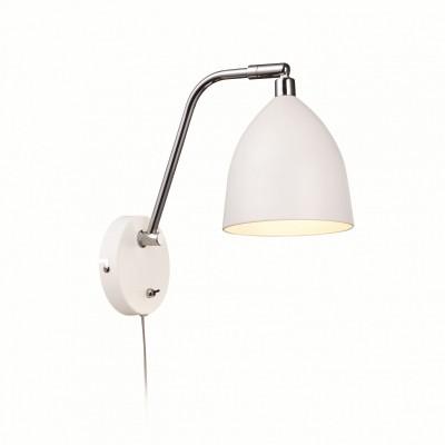 Светильник MarkSlojd  LampGustaf 105026светильники на штанге настенные<br><br><br>Цвет арматуры: серебристый<br>Ширина, мм: 140<br>Длина, мм: 380<br>Высота, мм: 290<br>MAX мощность ламп, Вт: 40