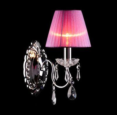 Светильник бра Евросвет 1050/1Хрустальные<br><br><br>S освещ. до, м2: 2<br>Тип лампы: накаливания / энергосбережения / LED-светодиодная<br>Тип цоколя: E14<br>Количество ламп: 1<br>Ширина, мм: 300<br>MAX мощность ламп, Вт: 60<br>Длина, мм: 150<br>Высота, мм: 250<br>Цвет арматуры: серебристый