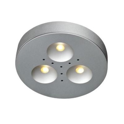 Светильник Markslojd 105140Круглые<br><br><br>Тип лампы: LED<br>MAX мощность ламп, Вт: 3<br>Диаметр, мм мм: 70<br>Высота, мм: 14<br>Цвет арматуры: серебристый