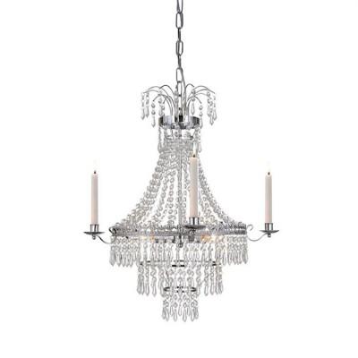 Светильник Markslojd 105156Подвесные<br><br><br>S освещ. до, м2: 6<br>Тип лампы: Накаливания / энергосбережения / светодиодная<br>Тип цоколя: E14<br>Цвет арматуры: серебристый<br>Количество ламп: 3<br>Диаметр, мм мм: 500<br>Высота, мм: 520<br>MAX мощность ламп, Вт: 40