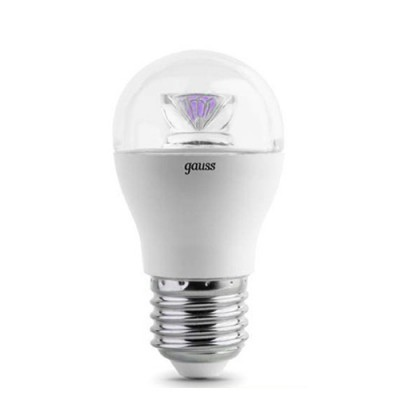 Лампа Gauss EB105202206-D LED Globe Crystal Clear E27 6W 4100K диммируемая
