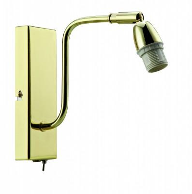 Светильник MarkSlojd  LampGustaf 105259Современные<br><br><br>Тип лампы: Накаливания / энергосбережения / светодиодная<br>Ширина, мм: 60<br>Длина, мм: 210<br>Высота, мм: 190<br>Цвет арматуры: Золотой