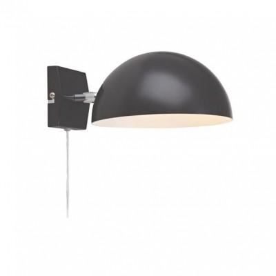 Светильник MarkSlojd  LampGustaf 105479современные бра модерн<br><br><br>Тип лампы: Накаливания / энергосбережения / светодиодная<br>Тип цоколя: E14<br>Цвет арматуры: черный<br>Количество ламп: 1<br>Ширина, мм: 180<br>Длина, мм: 240<br>Высота, мм: 120<br>MAX мощность ламп, Вт: 40
