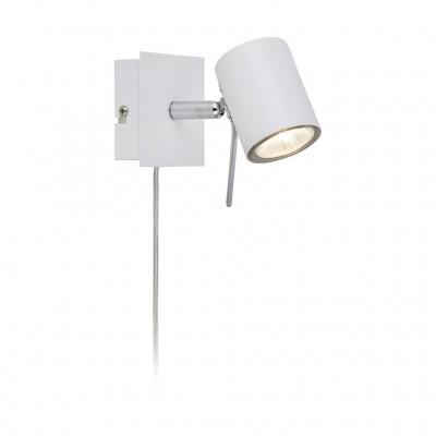 Светильник Markslojd 105481Одиночные<br><br><br>S освещ. до, м2: 3<br>Тип лампы: галогенная/LED<br>Тип цоколя: GU10<br>Цвет арматуры: белый<br>Ширина, мм: 65<br>Расстояние от стены, мм: 150<br>Высота, мм: 90<br>MAX мощность ламп, Вт: 50