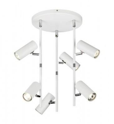 Светильник MarkSlojd  LampGustaf 105588Более 5 ламп<br>Светильники-споты – это оригинальные изделия с современным дизайном. Они позволяют не ограничивать свою фантазию при выборе освещения для интерьера. Такие модели обеспечивают достаточно качественный свет. Благодаря компактным размерам Вы можете использовать несколько спотов для одного помещения.  Интернет-магазин «Светодом» предлагает необычный светильник-спот MarkSlojd 105588 по привлекательной цене. Эта модель станет отличным дополнением к люстре, выполненной в том же стиле. Перед оформлением заказа изучите характеристики изделия.  Купить светильник-спот MarkSlojd 105588 в нашем онлайн-магазине Вы можете либо с помощью формы на сайте, либо по указанным выше телефонам. Обратите внимание, что у нас склады не только в Москве и Екатеринбурге, но и других городах России.<br><br>S освещ. до, м2: 15<br>Тип лампы: галогенная/LED<br>Тип цоколя: GU10<br>Цвет арматуры: белый<br>Количество ламп: 6<br>Диаметр, мм мм: 500<br>Высота, мм: 535<br>MAX мощность ламп, Вт: 6