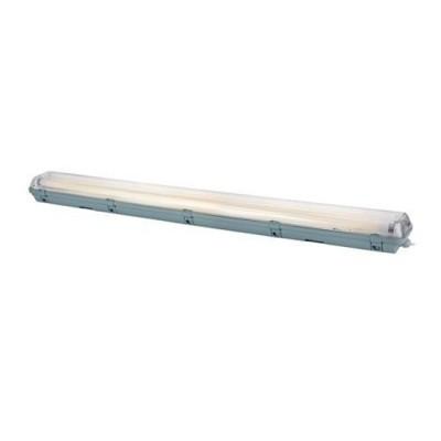 Светильник Markslojd 105696С лампой T8<br><br><br>Тип цоколя: T8<br>Количество ламп: 2<br>Ширина, мм: 136<br>MAX мощность ламп, Вт: 36<br>Длина, мм: 1260<br>Высота, мм: 93<br>Цвет арматуры: серый