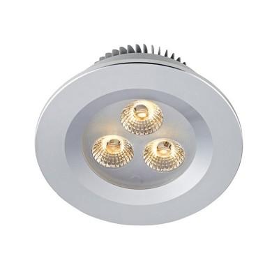 Светильник Markslojd 105798Круглые<br><br><br>Цветовая t, К: 3000<br>Тип лампы: LED<br>Тип цоколя: LED<br>Количество ламп: 3<br>MAX мощность ламп, Вт: 3<br>Диаметр, мм мм: 90<br>Диаметр врезного отверстия, мм: 70<br>Высота, мм: 46<br>Цвет арматуры: серебристый