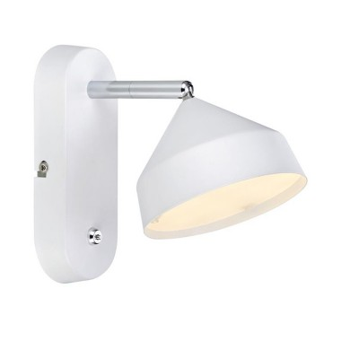 Светильник Markslojd 105801Одиночные<br><br><br>Цветовая t, К: 3000<br>Тип лампы: LED<br>Ширина, мм: 115<br>MAX мощность ламп, Вт: 6<br>Расстояние от стены, мм: 175<br>Высота, мм: 185<br>Цвет арматуры: белый/серебристый
